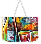 Wine Lovers Abstract Weekender Tote Bag