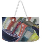 Wine Pour Weekender Tote Bag by Donna Tuten