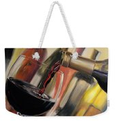 Wine Pour II Weekender Tote Bag by Donna Tuten