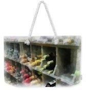 Wine Rack Mixed Media 01 Weekender Tote Bag
