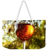 Wine Reflections Square Weekender Tote Bag