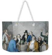 Wine Tasters In A Cellar Weekender Tote Bag