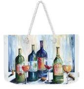 Wine Time Weekender Tote Bag
