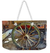 Wine Wagon Wheel Weekender Tote Bag