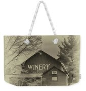 Winery In Sepia Weekender Tote Bag