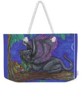 Winged Panther Kitten Cub Weekender Tote Bag