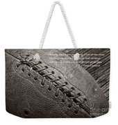 Winning Quote From Vince Lombardi Weekender Tote Bag