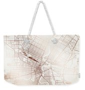 Winnipeg Street Map Colorful Copper Modern Minimalist Weekender Tote Bag