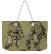 Winslow Homer 1836 - 1910 Study For The Brierwood Pipe Weekender Tote Bag
