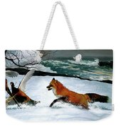 Winslow Homer's, 1893 ' The Fox Hunt ', Revisited 2016 Weekender Tote Bag