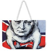 Winston Churchill Holding The Line Weekender Tote Bag