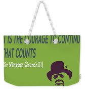 Winston Churchill Motivation Quote Weekender Tote Bag