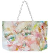 Winston Churchill - Watercolor Portrait.4 Weekender Tote Bag