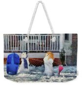 Winter - Christmas - Brother And Sister  Weekender Tote Bag