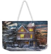 Winter - Clinton Nj - A Victorian Christmas  Weekender Tote Bag
