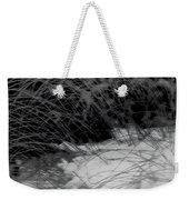 Winter Abstract Black And White Weekender Tote Bag