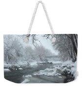 Winter Along Clear Creek Weekender Tote Bag