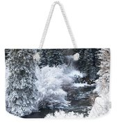 Winter Along The Creek Weekender Tote Bag