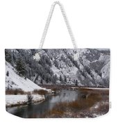 Winter Along The Salt Weekender Tote Bag