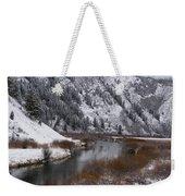 Winter Along The Salt Weekender Tote Bag