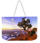 Winter At Dead Horse Weekender Tote Bag by Chad Dutson