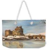 Winter At Eilean Donan Weekender Tote Bag