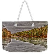 Winter At Pine Lake Weekender Tote Bag