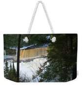 Winter At Tahquamenon Weekender Tote Bag