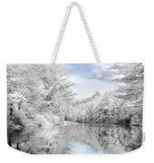Winter At The Reservoir Weekender Tote Bag by Lori Deiter