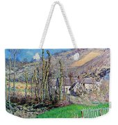 Winter At The Val De Falaise Weekender Tote Bag