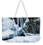 Winter At Virgin Creek Falls Weekender Tote Bag