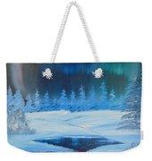Winter Aurora Weekender Tote Bag
