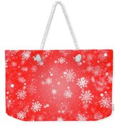 Winter Background With Snowflakes. Weekender Tote Bag