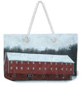 Winter Barn In Oil Weekender Tote Bag