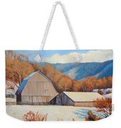 Winter Barns Weekender Tote Bag