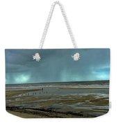 Winter Beach Weekender Tote Bag by Debbie Cundy