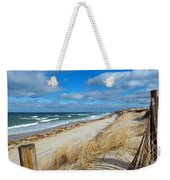 Winter Beach View Weekender Tote Bag