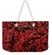 Winter Berries Weekender Tote Bag