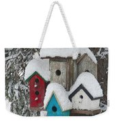 Winter Birdhouses Weekender Tote Bag