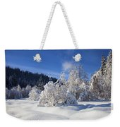 Winter Blanket Weekender Tote Bag