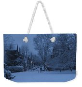 Winter Blue Britain Weekender Tote Bag