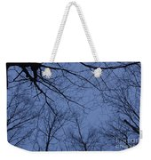 Winter Blue Sky Weekender Tote Bag