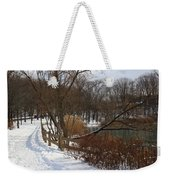 Winter By The Lake Weekender Tote Bag