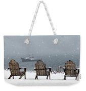 Winter By The Sea Weekender Tote Bag