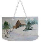 Winter Cabin Weekender Tote Bag