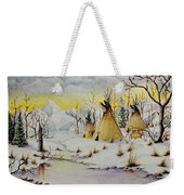 Winter Camp Weekender Tote Bag