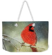 Winter Card Weekender Tote Bag