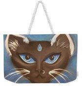Winter Cat Weekender Tote Bag