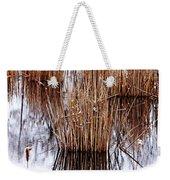 Winter Cattails Weekender Tote Bag