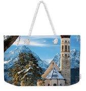 Winter Church In Bavaria Weekender Tote Bag